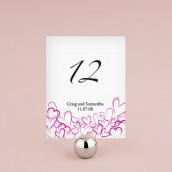 Les 12 numéros de table romantiques