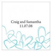 Les 2 cartes personnalisées romantiques -15 coloris