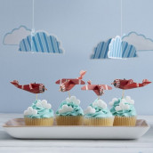Les pics à cupcake avions