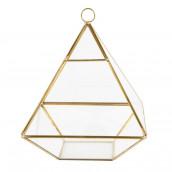 Le terrarium pyramidal doré 21 x 15,5cm