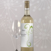 Les 8 étiquettes bouteille de vin coeur en filigrane
