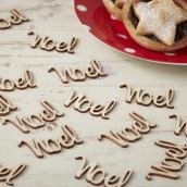 Les confettis de table Noel en bois