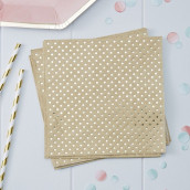 Les serviettes en papier kraft et or