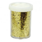 Le pot de grosses paillettes dorées
