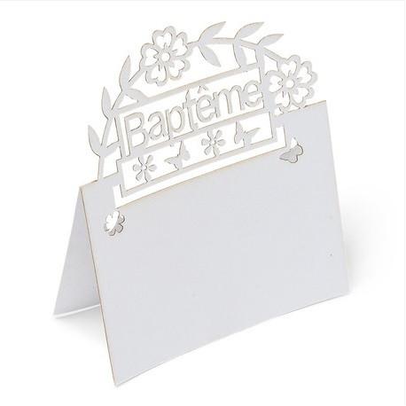 Le carton marque place baptême (x10)