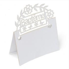 Le carton marque place baptême (x20)