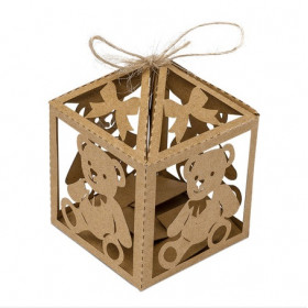 La boîte à dragées kraft nounours (x20)