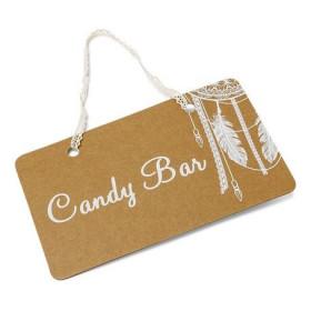 La pancarte kraft bohème candy bar