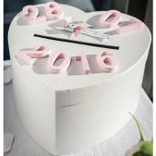 L'urne de mariage blanche coeur