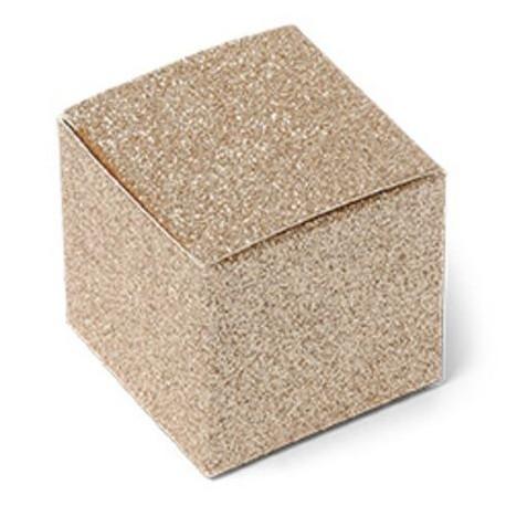 La boîte à dragées paillettes cuivre (x8)