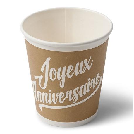 Les 20 gobelets kraft anniversaire