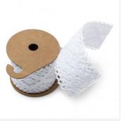 Le ruban adhésif dentelle blanche 5cm