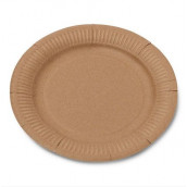 Les 12 assiettes carton kraft