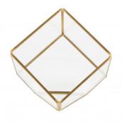 Le terrarium cube en métal et verre