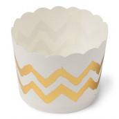 Les 25 pots à glace blanc chevron or