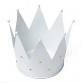 La couronne blanche à pois or