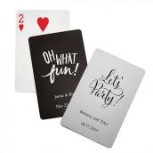 Le jeu de cartes personalisées