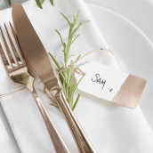 Etiquette mariage cuivre x10