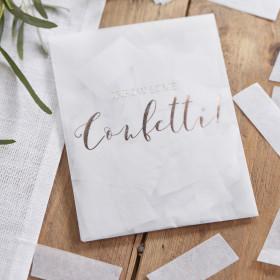 Sachets à confettis inscription cuivre