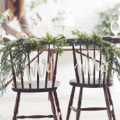 Les pancartes de chaise Mr & Mrs