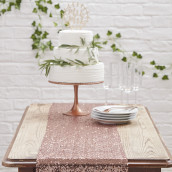Le chemin de table sequins cuivre