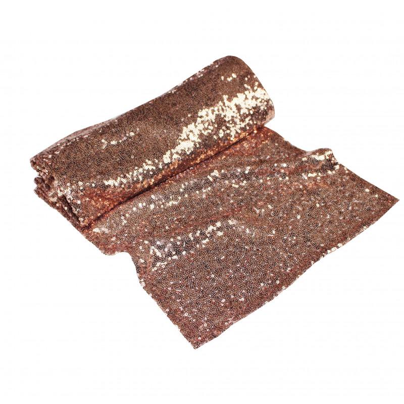 Chemin table sequins cuivre for Le chemin de table