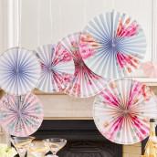 Les cocardes en papier fleuries