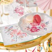 Les 12 assiettes en carton fleuri
