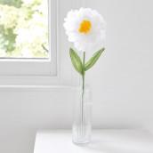 La fleur en papier blanche 55cm