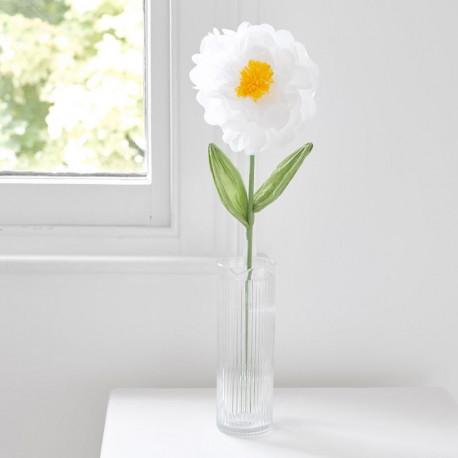 La fleur blanche en papier 55cm