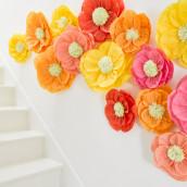 Les fleurs en papier de soie à accrocher