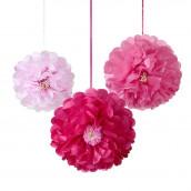 Les 3 pivoines en papier rose