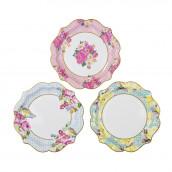 Les 12 assiettes carton imitation porcelaine