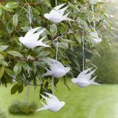 Les oiseaux à suspendre papier alvéolé