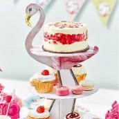 Le présentoir à gâteaux flamand rose