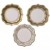 Les 12 assiettes dorées imitation porcelaine