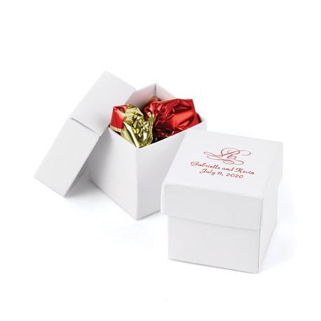 La boîte à dragées cube avec couvercle (x25)
