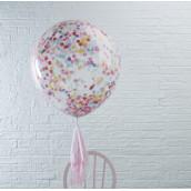 Les 3 ballons confettis multicolores