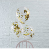 Les 5 ballons confettis or