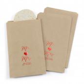 Les 25 sacs papier personnalisés Mr Mrs coeur