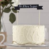 La bannière ardoise pour gâteau