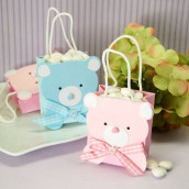Les 12 sacs en papier ourson rose ou bleu