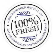 Le sticker personnalisé 100% fresh