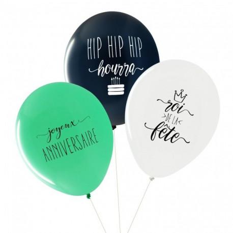 Les ballons baby shower garçon (x3)