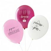 Les ballons anniversaire fille (x3)