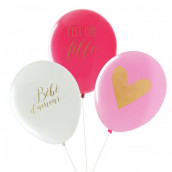 Les ballons baby shower fille (x3)