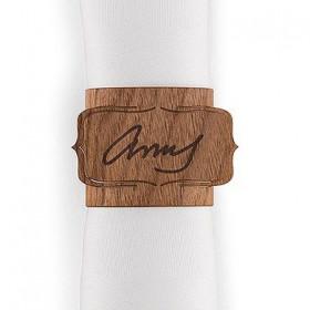 Le rond de serviettes imitation bois (x3)