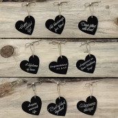 Les 10 étiquettes coeurs noires (x10)