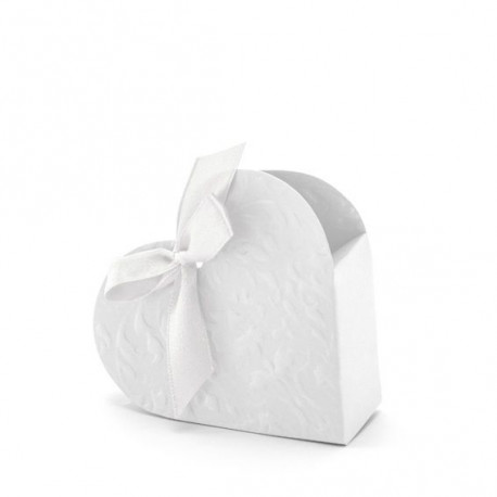 boite drag es coeur carton blanc. Black Bedroom Furniture Sets. Home Design Ideas