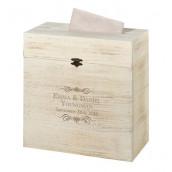 L'urne de mariage coffre bois rustique (personnalisable)